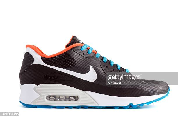 nike air max 90 hyperfuse trainer - nike sports shoe stock pictures, royalty-free photos & images