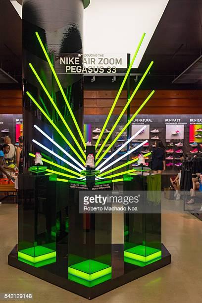 Nike Air Pegasus 33 shoe display in Nike Store in the Eaton Center
