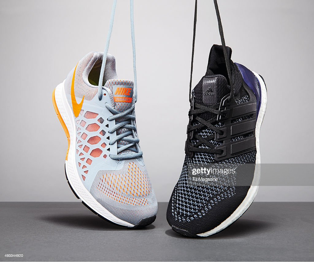 pretty nice 256fc d2d06 A Nike Air Zoom Pegasus 31 and Adidas Ultra Boost running ...