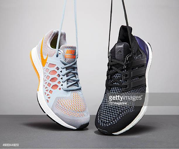 A Nike Air Zoom Pegasus 31 and Adidas Ultra Boost running shoe taken on January 31 2015