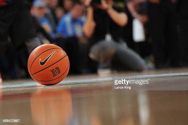 Nike basketball is seen on the court during a game between the UCLA Bruins and the Duke Blue Devils during the CARQUEST Auto Parts Classic at Madison...