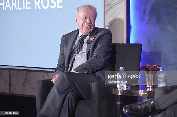 Nike cofounder Phil Knight speaks onstage during the Tiger Woods Foundation's 20th Anniversary Celebration at the New York Public Library on October...