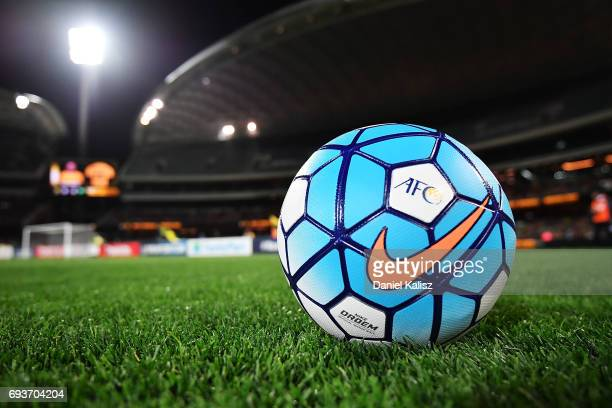 Nike football is pictured prior to the 2018 FIFA World Cup Qualifier match  between the Australian
