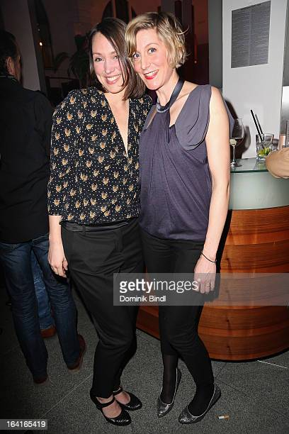 Nike Fuhrmann and Mareile Blendl attend the Ndf Afterwork Party at 8 Seasons on March 20 2013 in Munich Germany