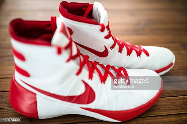 nike hyperdunk basketball sport shoes - basketball shoe stock photos and pictures