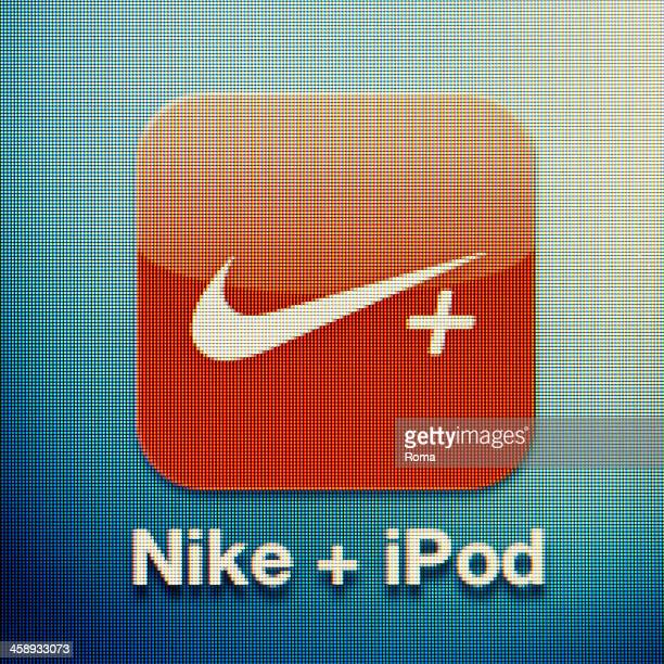 nike+ ipod - nike designer label stock pictures, royalty-free photos & images