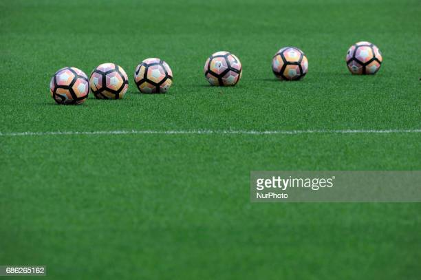 Nike Lega Serie A official balls during the warmup before the Serie A match between FC Internazionale and US Sassuolo at Stadio Giuseppe Meazza on...