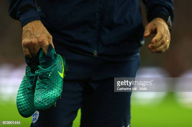 Nike Magista Obra boots during the International Friendly match between England and Spain at Wembley Stadium on November 15 2016 in London England