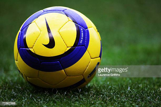 Nike match ball during the FA Barclays Premiership match between Bolton Wanderers and Blackburn Rovers at The Reebok Stadium on December 28 2004 in...