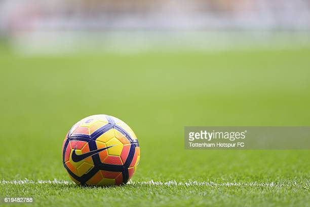 Nike match ball during the Premier League match between Tottenham Hotspur and Leicester City at White Hart Lane on October 29 2016 in London England