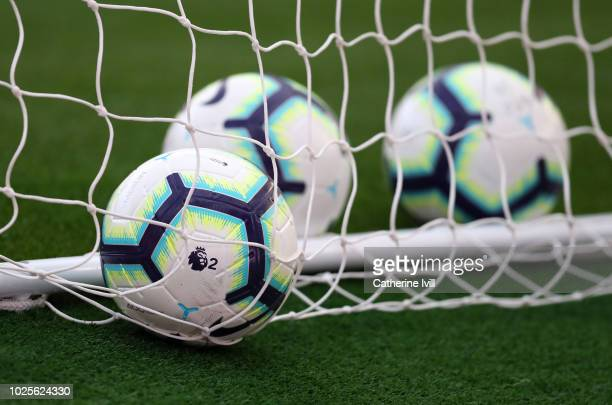 Nike Merlin football bearing the logo of the Premier League 2 before the Premier League 2 match between Arsenal and Tottenham Hotspur at Emirates...