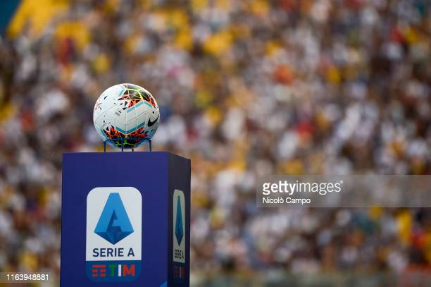Nike Merlin, official match ball of Serie A 2019-2020, is pictured prior to the Serie A football match between Parma Calcio and Juventus FC. Juventus...
