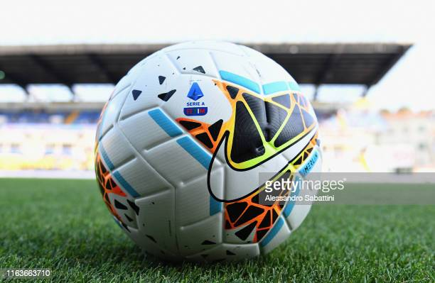 Nike Merlin the official match ball of Serie A during the Serie A match between Parma Calcio and Juventus at Stadio Ennio Tardini on August 24, 2019...