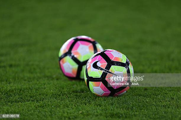 Nike Ordem 4 match footballs during the U21 International Friendly match between England and Italy at St Mary's Stadium on November 10 2016 in...