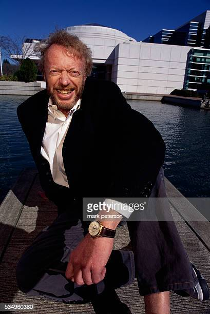 Nike President and CEO Phil Knight sitting on a pier Knight and Nike helped start a sports business revolution in the 1970s changing old fashioned...