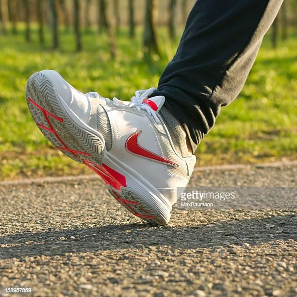 nike running shoe - nike designer label stock pictures, royalty-free photos & images