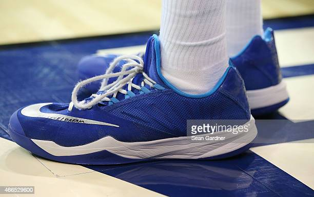 Nike shoes are worn by Georgia State Panthers during the Sun Belt Conference Men's Championship game at the UNO Lakefront Arena on March 15 2015 in...