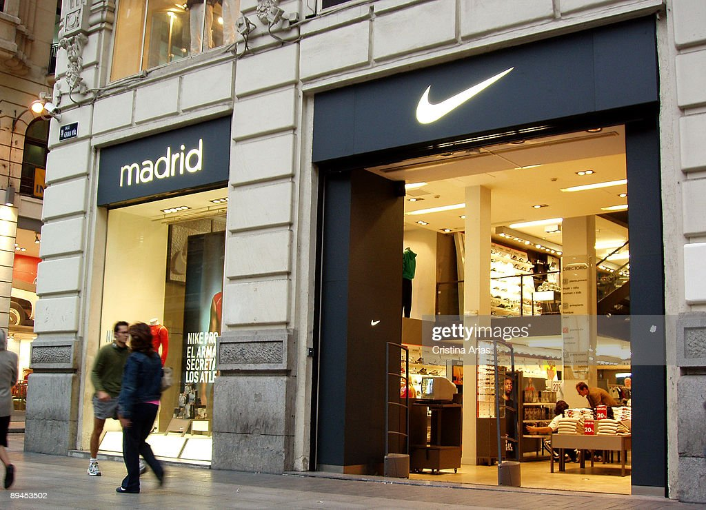 huge discount ccef3 28916 Nike shop in Gran Via street. Madrid.  News Photo