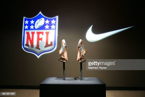 Nike Silver Speed Collection is arrayed at the 2014 NFL Nike Silver Speed Collection Unveiling For Super Bowl XLVIII at Skylight Modern on January 9...