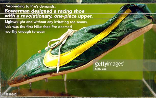Nike spike worn by Steve Prefontaine at Niketown Eugene in Eugene Ore