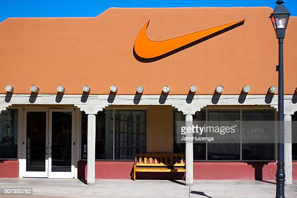 nike store in santa fe, nm - nike designer label stock pictures, royalty-free photos & images