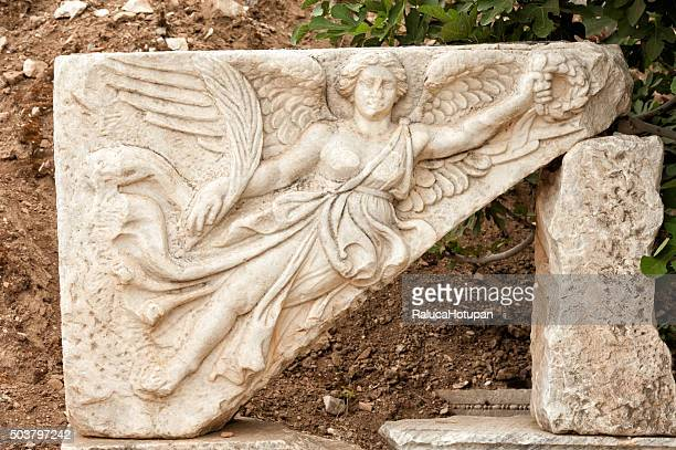 Nike the winged goddess of victory in Ephesus