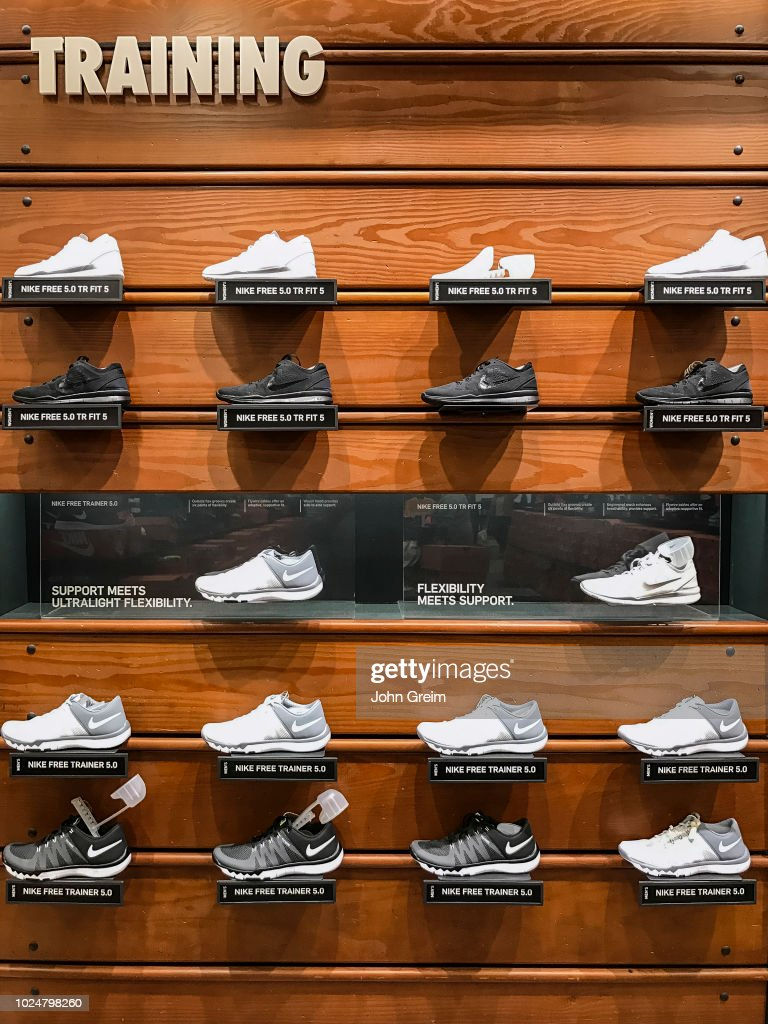 Nike Training Shoe Display In A Store