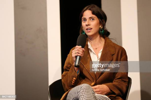 Nike van Dinther attends the talk at the Mint Berry live panel session during the Bread Butter by Zalando at Festsaal Kreuzberg on September 3 2017...