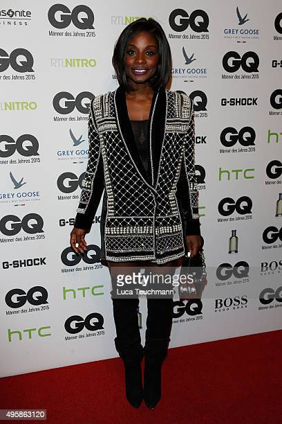 Nikeata Thompson arrives at the GQ Men of the year Award 2015 at Komische Oper on November 5 2015 in Berlin Germany