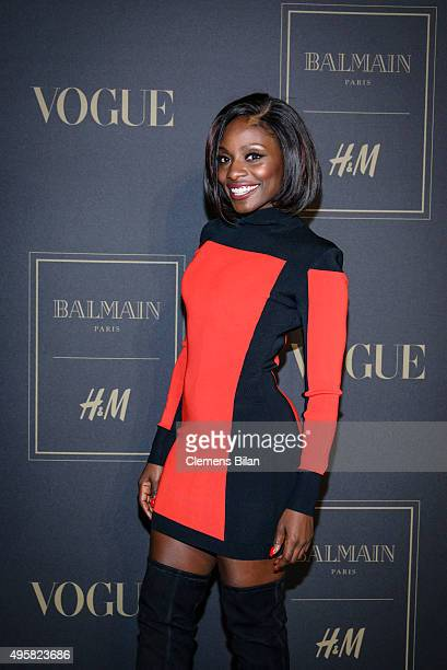 Nikeata Thompson attends the BALMAIN x HM Berlin Launch Party on November 4 2015 in Berlin Germany