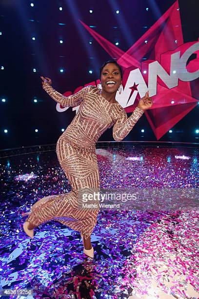 Nikeata Thompson attends the final of the tv show 'Got to Dance' on August 14 2014 in Cologne Germany