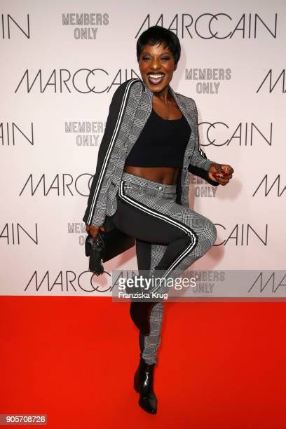 Nikeata Thompson during the Marc Cain Fashion Show Berlin Autumn/Winter 2018 at metro station Potsdamer Platz on January 16 2018 in Berlin Germany