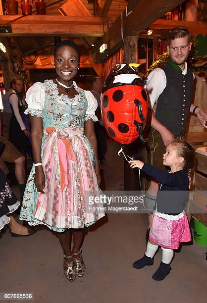 Nikeata Thompson during the ProSieben Sat1 Wiesn as part of the Oktoberfest 2016 at Kaefer Tent on September 18 2016 in Munich Germany
