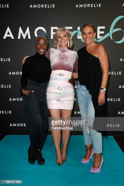 Nikeata Thompson LeaSophie Cramer and Natascha Ochsenknecht during the 6th anniversary celebration of Amorelie at Humboldt Carre on September 6 2019...