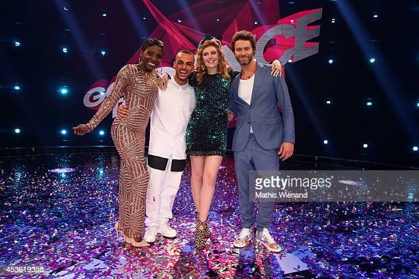 Nikeata Thompson, Majid, Palina Rojinski and Howard Donald during the final of the tv show 'Got to Dance' on August 14, 2014 in Cologne, Germany.