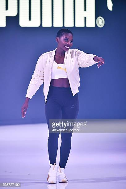 Nikeata Thompson walks the runway at the Puma fashion show during the Bread & Butter by Zalando at arena Berlin on September 2, 2016 in Berlin,...