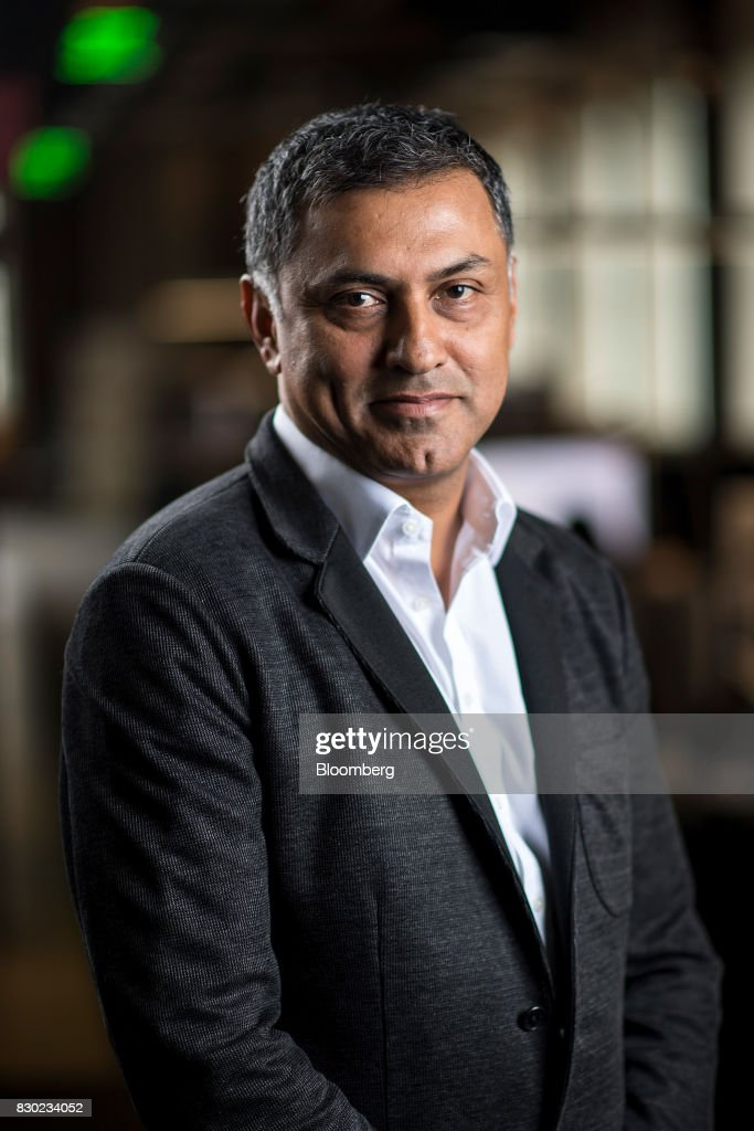 Nikesh Arora, advisor and former president of SoftBank Group Corp., stands for a photograph in San Francisco, California, U.S., on Wednesday, Aug. 9, 2017. SoftBank Group Corp. provides telecommunication services. Photographer: David Paul Morris/Bloomberg via Getty Images