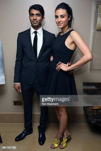Nikesh Patel and Aiysha Hart attend a photocall for 'Honour' at The Mayfair Hotel on March 31 2014 in London England