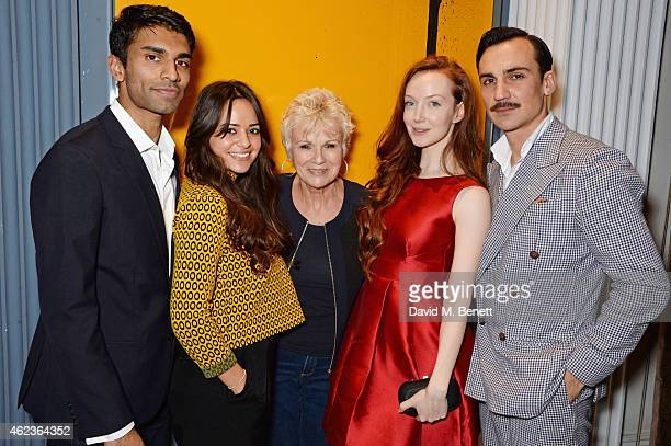 """Nikesh Patel, Aysha Kala, Julie Walters, Olivia Grant and Henry Lloyd-Hughes attend the launch of Channel 4's new period drama """"Indian Summers"""" at..."""