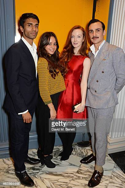 """Nikesh Patel, Aysha Kala, Olivia Grant and Henry Lloyd-Hughes attend the launch of Channel 4's new period drama """"Indian Summers"""" at The Arts Club on..."""