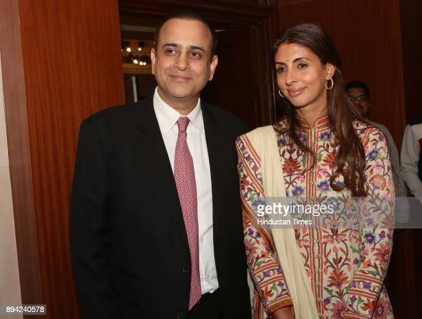 Nikhil Nanda and Shweta Bachchan Nanda during the launch of author Ritu Nanda's book a memoir on her father late actorfilmmaker Raj Kapoor's life...