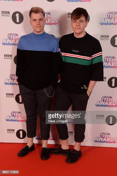 Niki Albon and Sammy Albon attend the BBC Radio 1 Teen Awards 2017 at Wembley Arena on October 22 2017 in London England