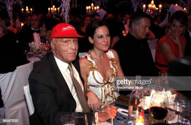 Niki and Birgit Lauda attends the 2009 Sports Gala 'Ball des Sports' at the RheinMain Hall on February 6 2010 in Wiesbaden Germany