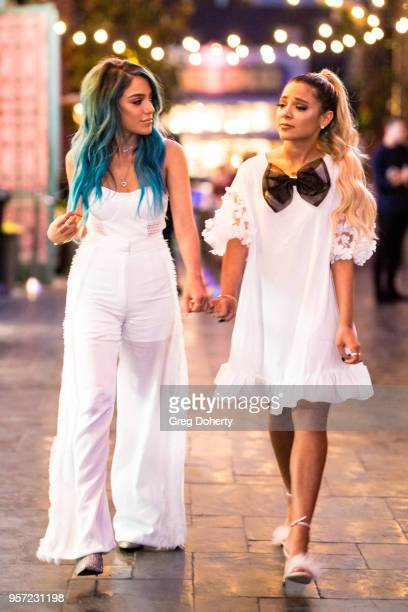 Niki and Gabi DeMartino attend the Niki Gabi DeMartino X Bellami Collection Launch Party at Avenue on May 10 2018 in Los Angeles California
