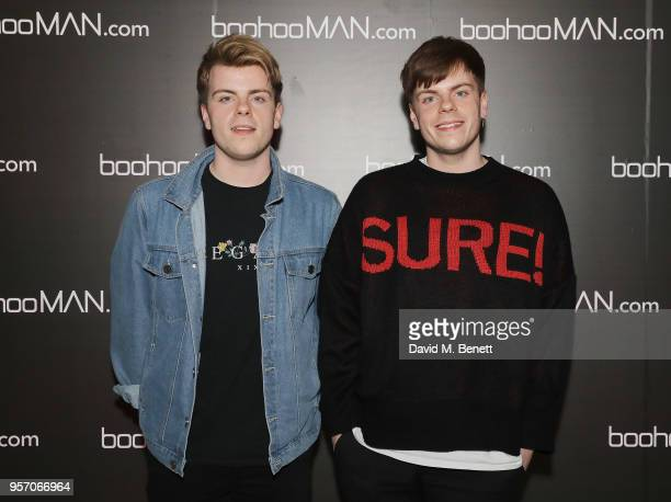 Niki and Sammy attend boohooMAN by Dele Alli Launch at Radio Rooftop on May 10 2018 in London England