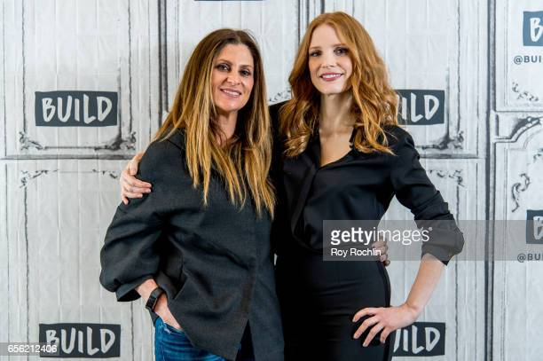 Niki Caro and Jessica Chastain discuss The Zookeeper's Wife with the build series at Build Studio on March 21 2017 in New York City