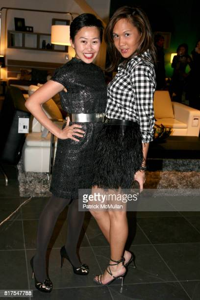 Niki Cheng and Catrina Luis attend 8th Annual BoCONCEPT/KOLDESIGN Holiday Party at Bo Concept Madison Ave on December 14th 2010 in New York City