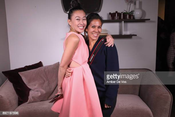 Niki Cheng and Mireya Acierto attend Niki Shaokao Cheng's Annual Holiday Party at Calligaris SoHo on December 13 2017 in New York City