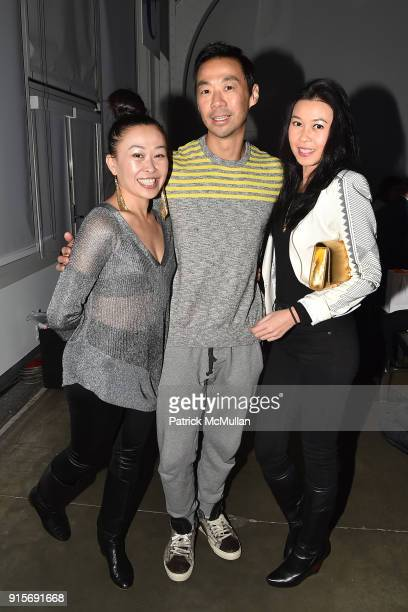 Niki Cheng Shaokao Cheng and Petti Chong attend The Blue Jacket Fashion Show Benefiting Prostate Cancer Foundation at Pier 59 on February 7 2018 in...