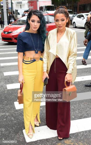 Niki DeMartino and Gabi DeMartino are seen on September 12 2018 in New York City